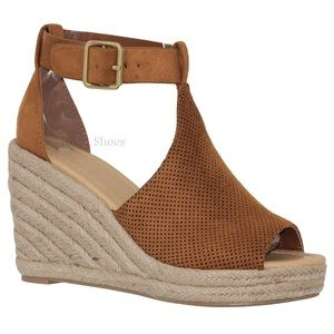 Shoes - 'The Olivia' Wedges In Brown